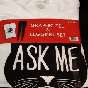 Graphic Tee & Legging Set